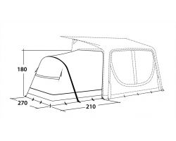 Outwell Nordic Shore Annex Sleep for Inflatable Caravan Porch Awnings