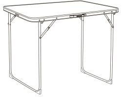 Quest Leisure Superlite Black Shipston Table