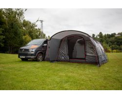Vango Galli Low Poled Drive Away Campervan Awning 2021 attached to VW Campervan