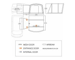 Vango Cove Air Low Inflatable Drive Away Awning for Motorhomes and Campervans