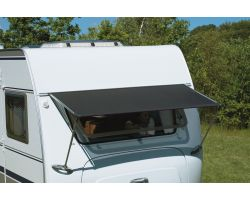 Isabella Window Canopy with Sunfilter to shade your caravan window from the sun without obstructing light.