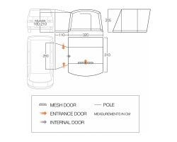 Vango Noosa Low Drive Away Awning for Motorhomes and Campervans