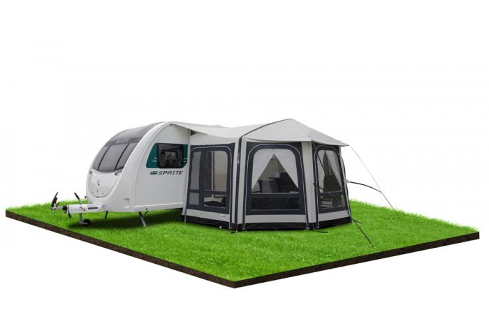 Caravan Awning Bradcot Active 870cm In Wine Grey And With Aluminium Easy System Frame In Andover Hampshire Gumtree