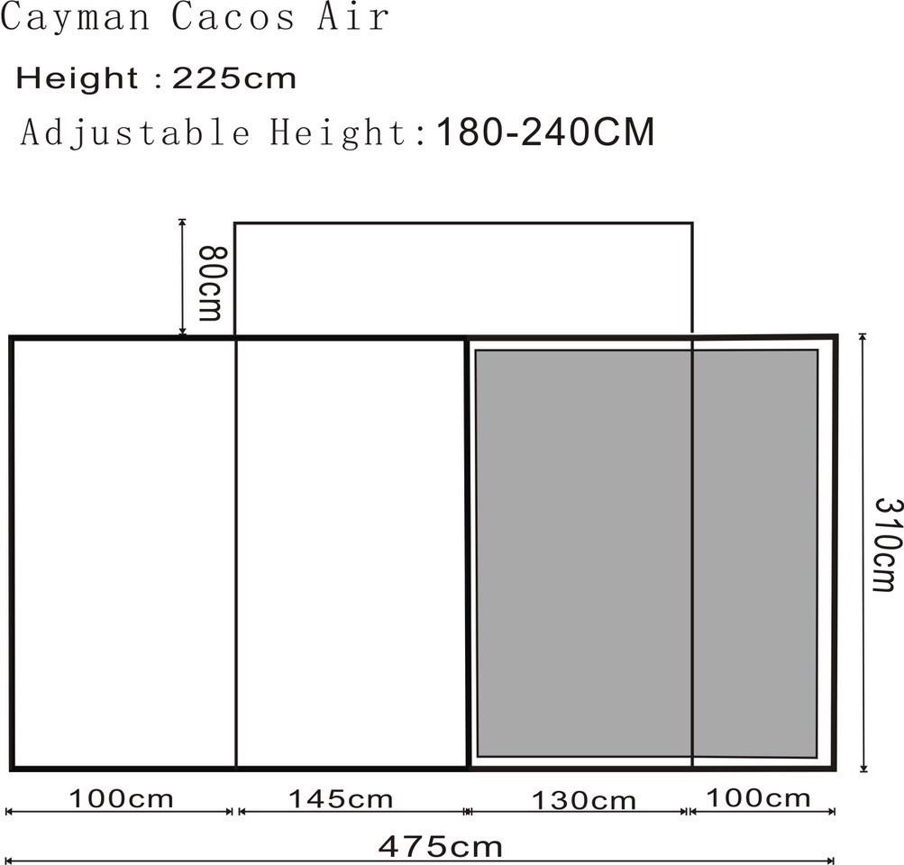 Outdoor Revolution Cayman Cacos Air Footprint