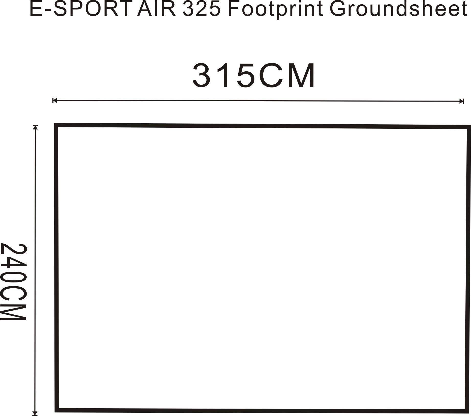 E Sport Air 325 Footprint