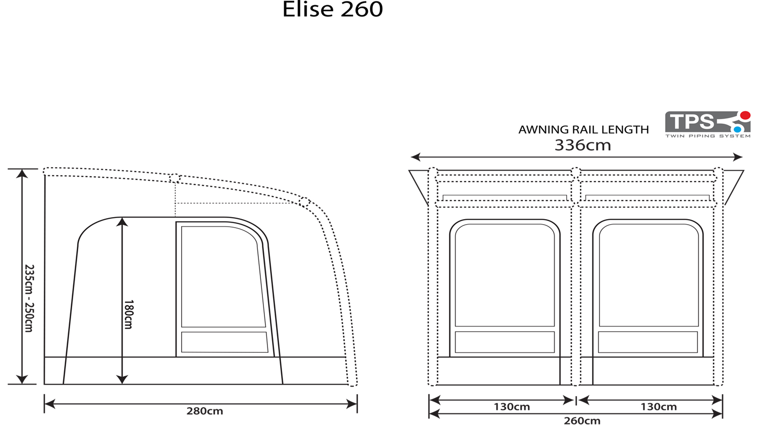 Outdoor Revolution Elise 260 Floorplan