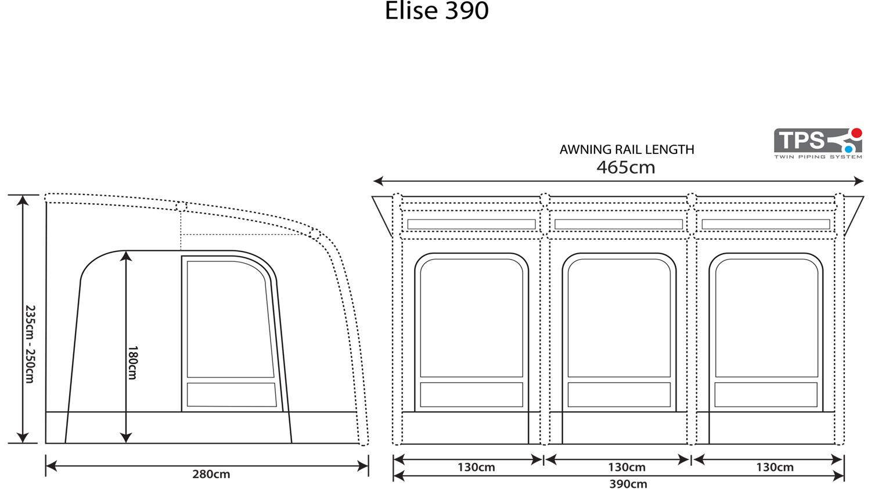 Outdoor Revolution Elise 390 Floorplan