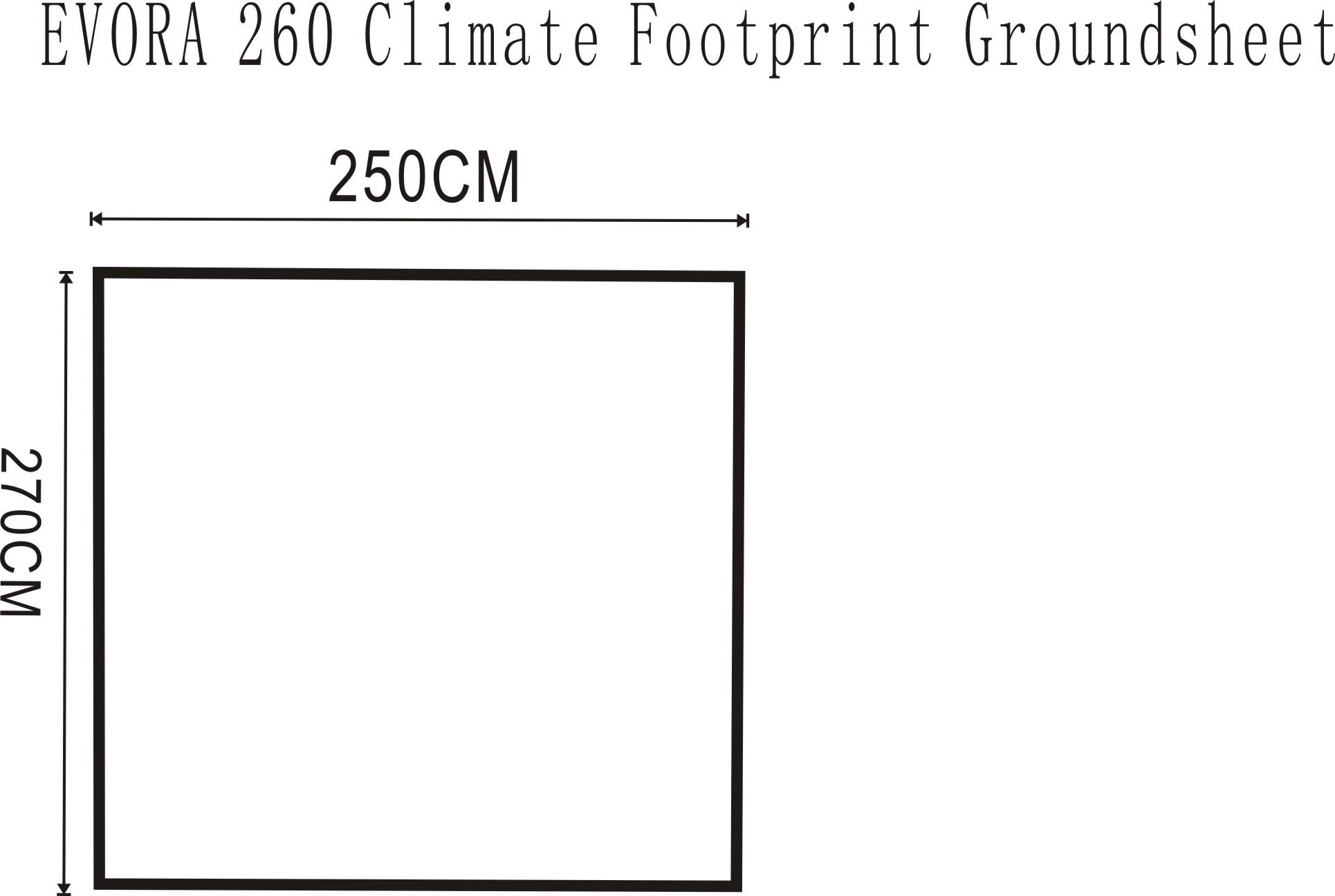 Outdoor Revolution Evora 260 Pro Climate Footprint