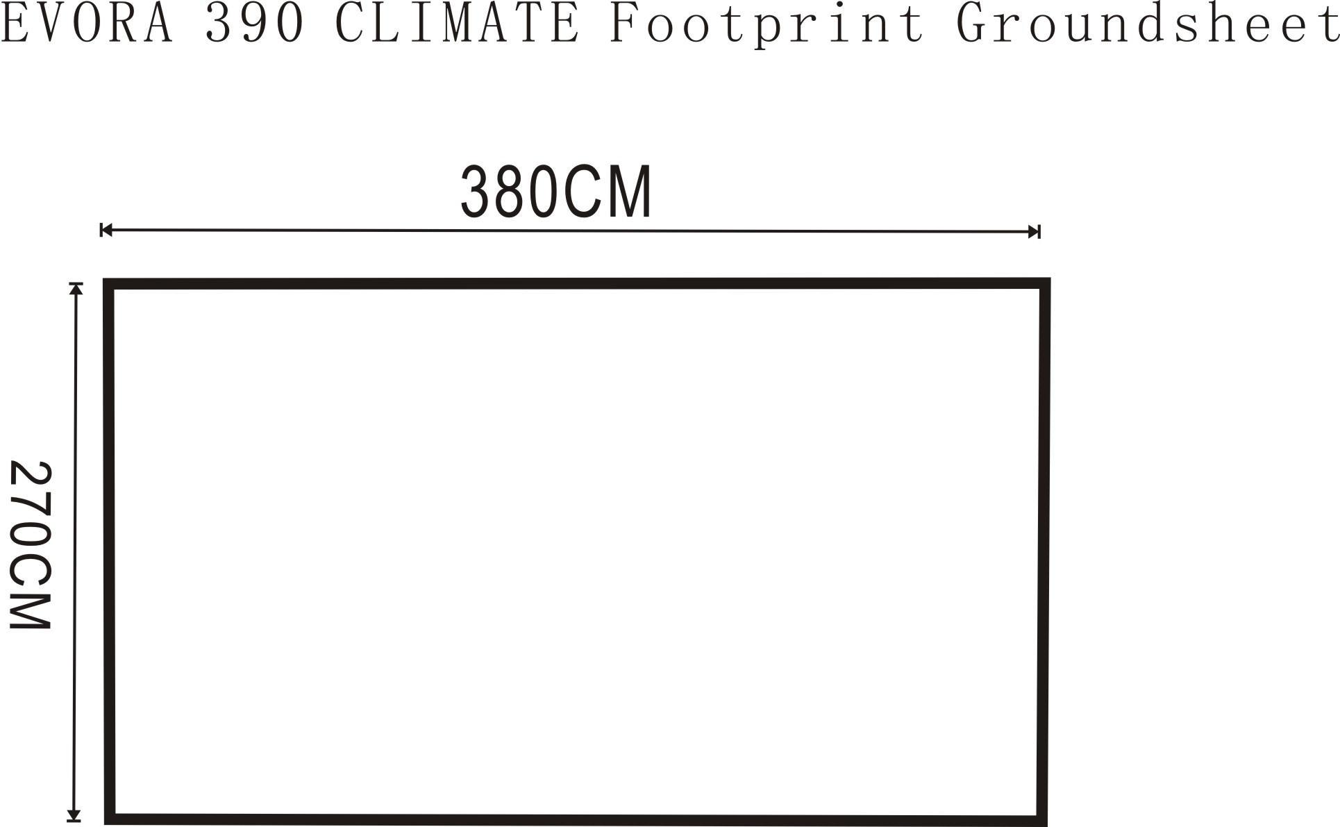 Outdoor Revolution Evora 390 Pro Climate Footprint